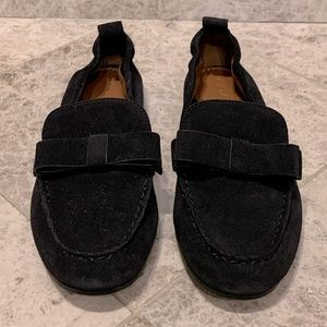 COACH Henny Bow Suede Loafer 9